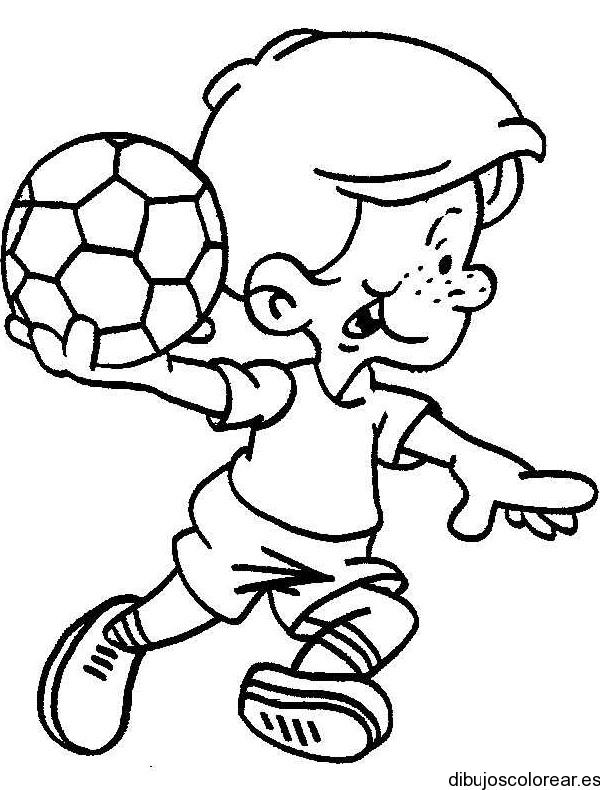 Dibujo de chico con pelota