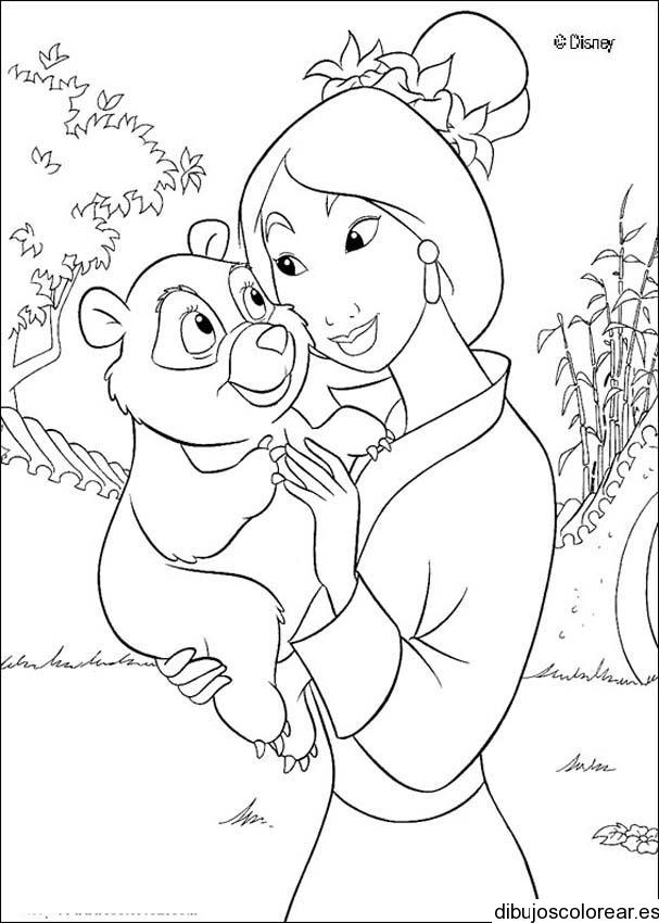 Dibujo de Mulan con Mushu