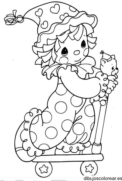 Dibujo de un niño congelado
