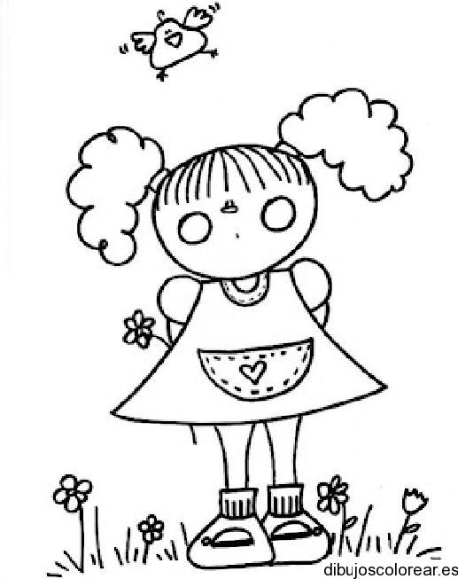 Dibujo De Nina Con Coletas