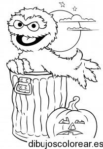 dibujos-para-colorear-de-halloween-Sesame-Street-Oscar-Halloween-coloring1-209x300