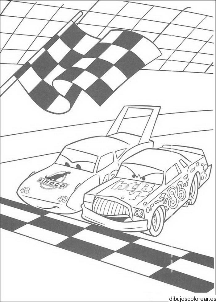 Dibujo de carro cars aparcado