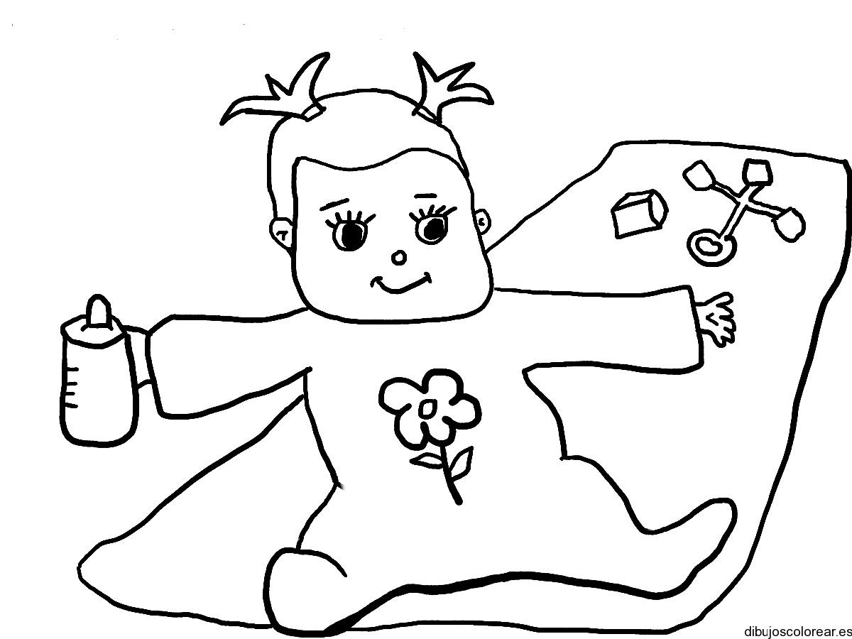 Dibujo de un bebé en pañales