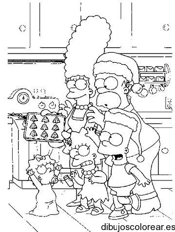 Dibujos De Barbie De Navidad.Dibujo De Los Simpsons En Navidad