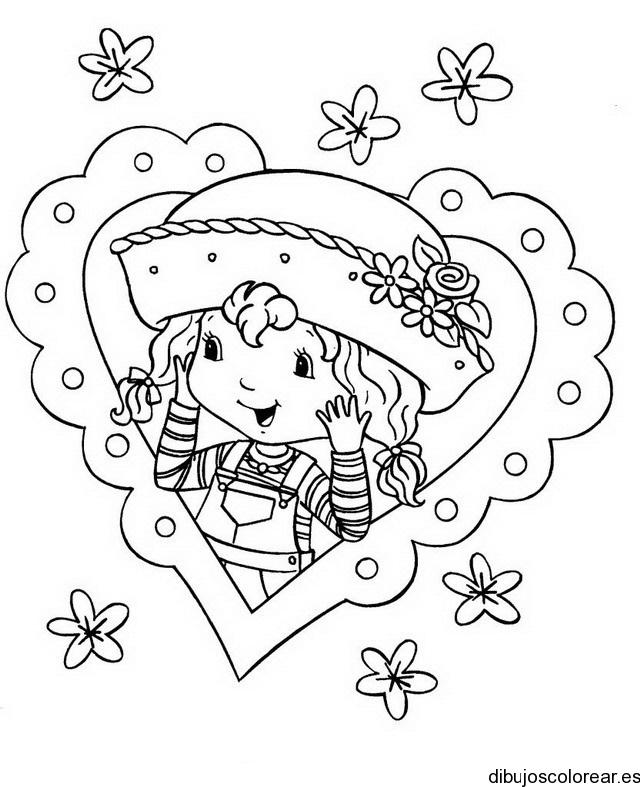 Dibujo De Rosita Fresita En Un Corazon