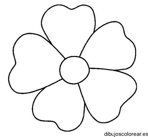 Dibujo De Una Flor Para Pintar
