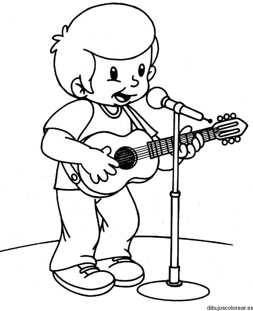 Dibujo De Un Niño Tocando La Batería