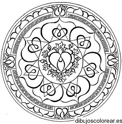 Dibujo de un mosaico con campanas