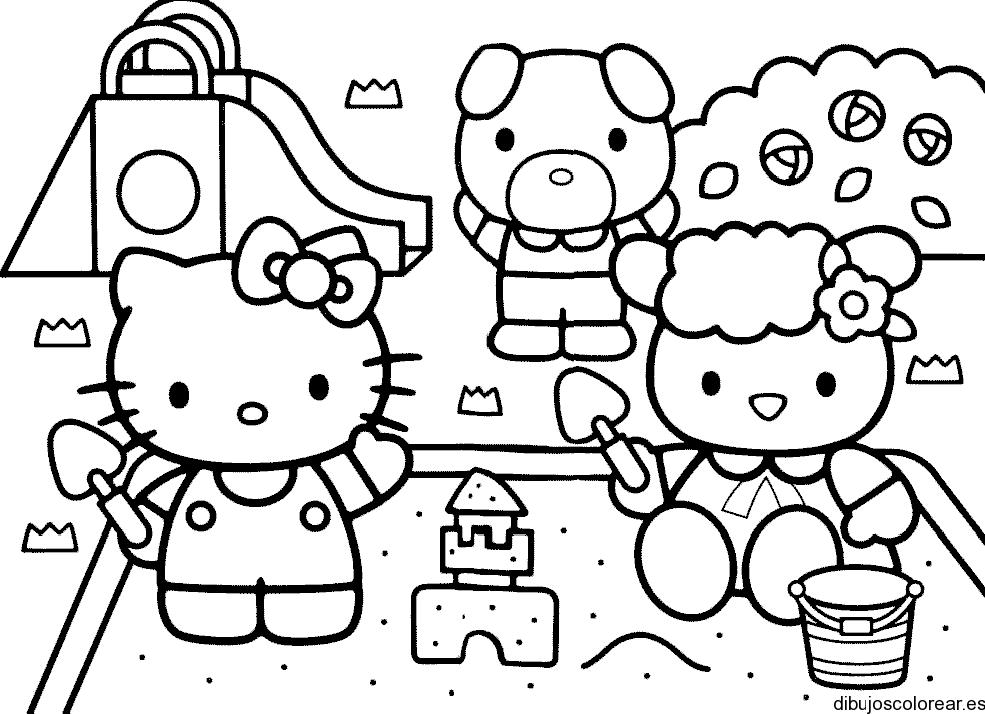 Dibujo De Hello Kitty Y Sus Amigos