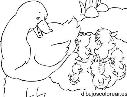 Dibujo De Patos Comiendo
