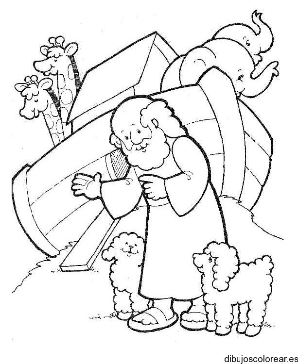 Dibujo Del Diluvio Y El Arca De Noé