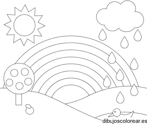 Dibujo De Un Paisaje Con Conejitos