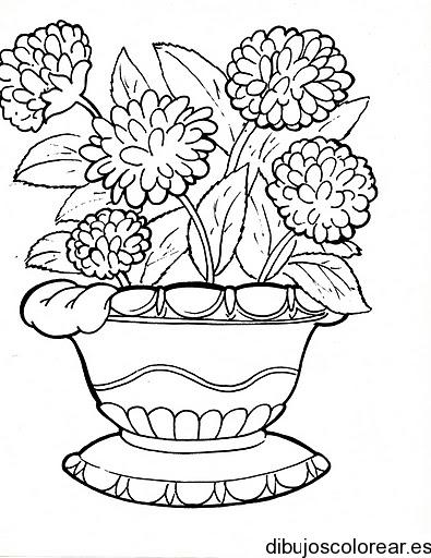 Dibujos de flores for Plantas ornamentales para colorear