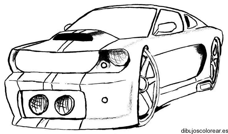 Dibujo de un cochecito de competición