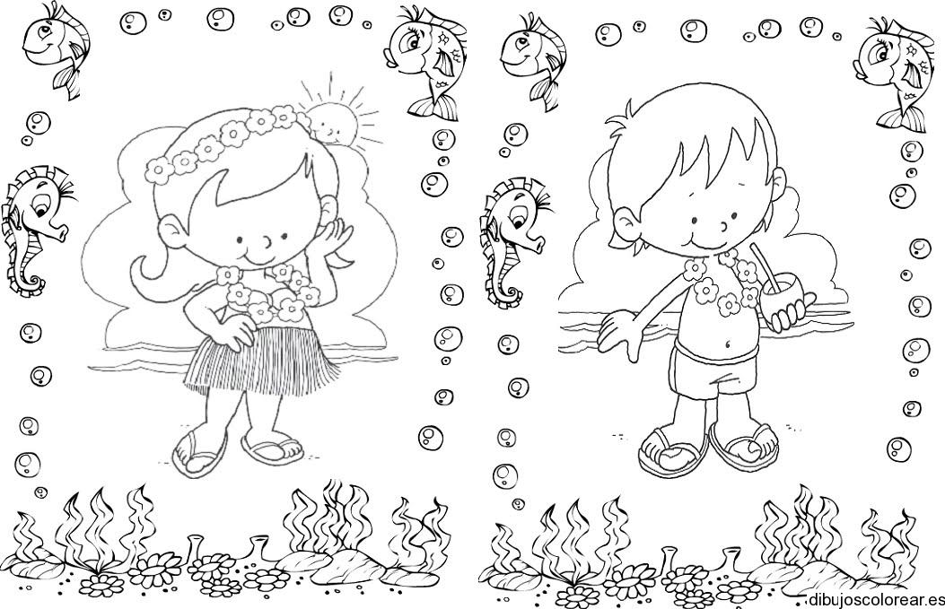 Lujo Libre Verano Imprimible Para Colorear Composición - Dibujos ...