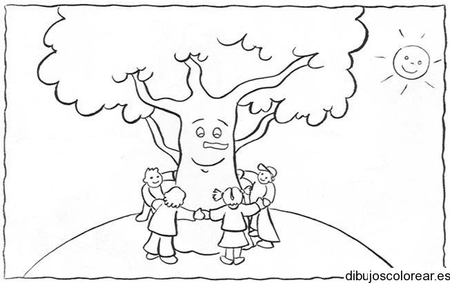 Dibujo Del Día Del árbol