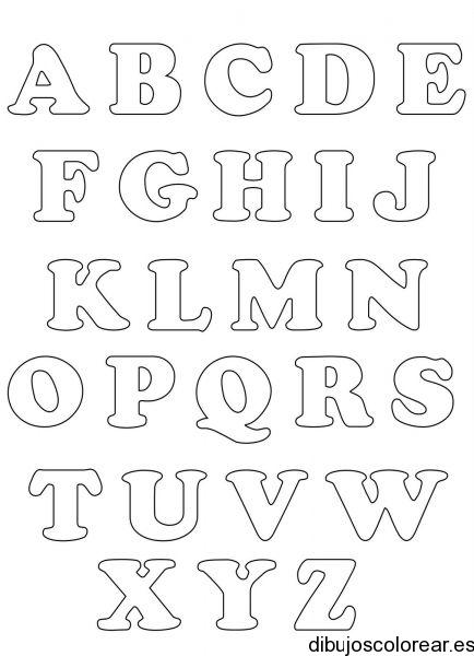 Dibujo de un abecedario