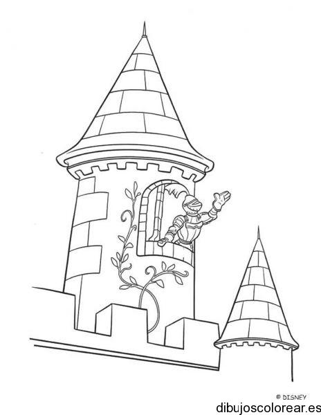 Dibujo de un caballero con escudo y espada