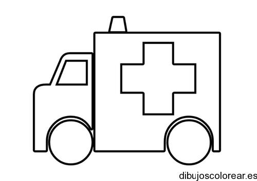 Dibujo De Una Ambulancia En Marcha