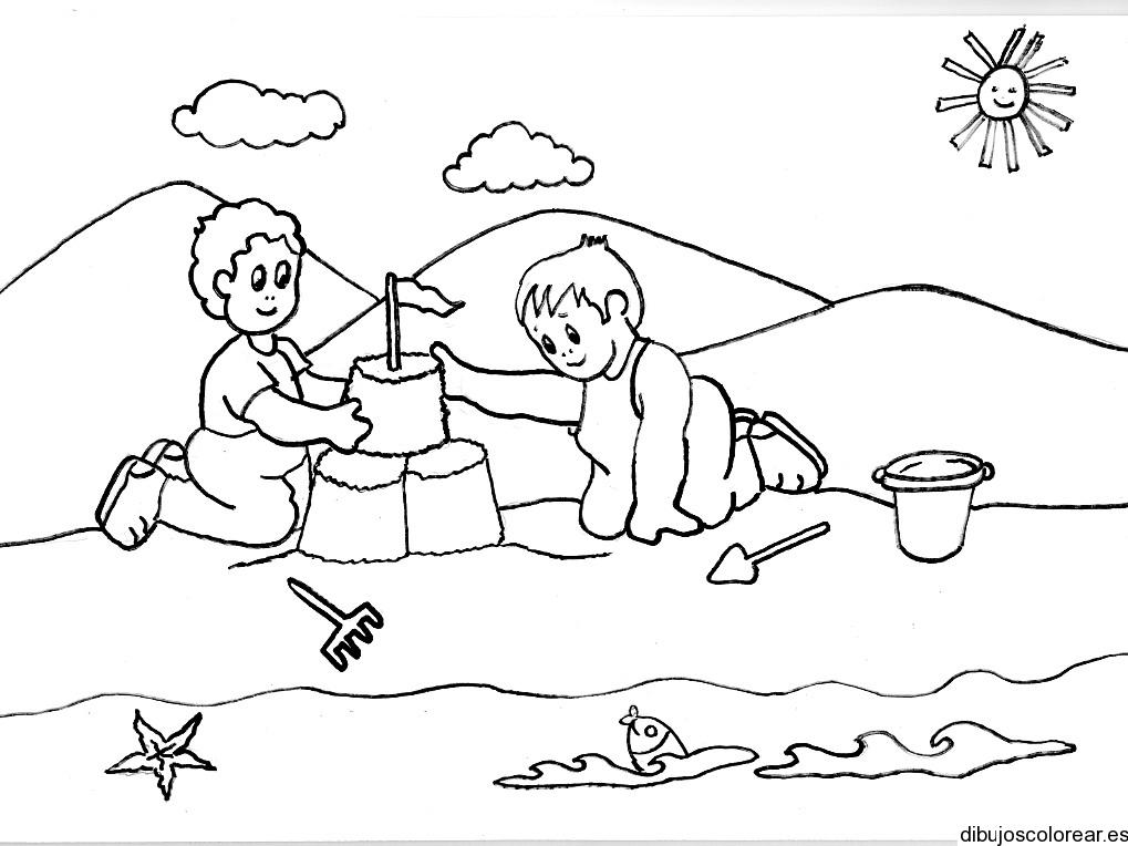 Dibujo De Dos Niños Indios Cocinando