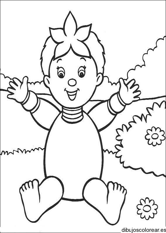 Dibujo de una pequeña niña