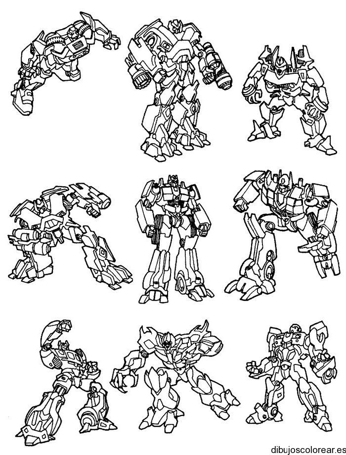 Dibujo De Nueve Robots