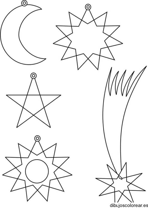 Estrellas De Navidad Para Colorear E Imprimir. Trendy Coleccin De ...