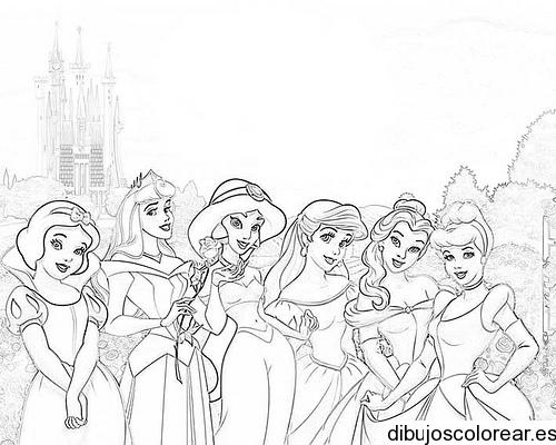 Dibujo de tres princesas