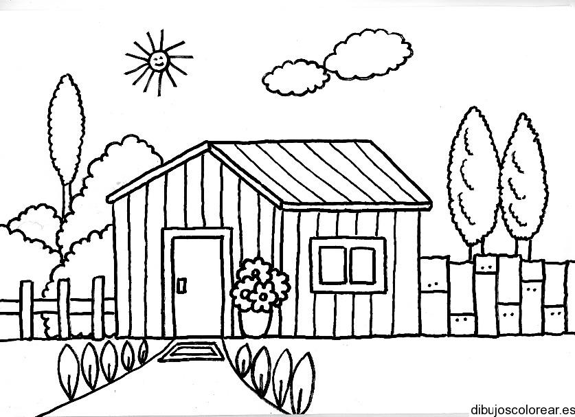 Vistoso Colorear Casas Colección de Imágenes - Dibujos Para Colorear ...