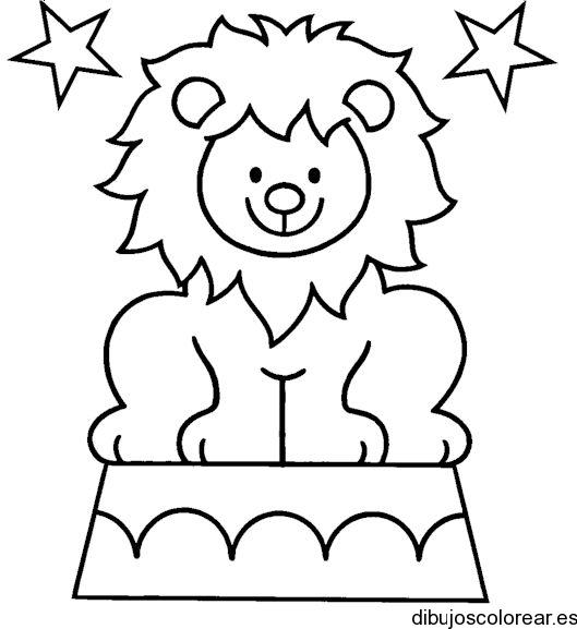 Dibujo de un león asustado