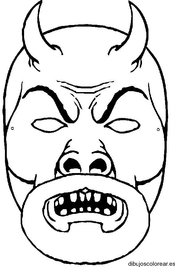 Dibujo de máscara para carnaval